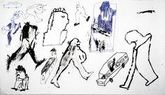 """DOKĄD DOKĄD?"" / MATEUSZ CZAPEK / 40 x  70 cm / długopis + tusz + papier / 2013"