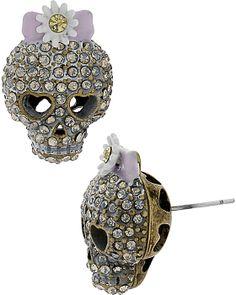 GIRLIE GRUNGE SKULL STUD MULTI accessories jewelry earrings fashion