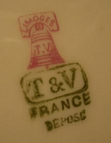 T.V. / T&V Marks on Limoges Porcelain