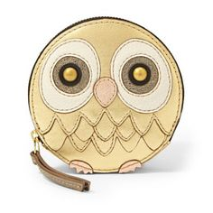 owl zip coin purse / fossil