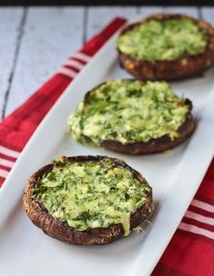 Grilled Portobello Mushrooms with Spinach and Cheese