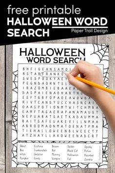 Print a Halloween word search for a fun Halloween activity for a harvest party or Halloween party for a classroom or church. Halloween Themed Food, Classroom Halloween Party, Halloween Words, Halloween Activities For Kids, Halloween Party Games, Party Activities, Halloween Design, Halloween Themes, Halloween Fun