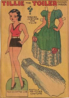 Tillie the Toiler paper doll.... Tillie the Toiler was a newspaper comic strip created by cartoonist Russ Westover