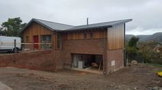 The new build in the #Shropshire nears is now nearing completion, #zinc roof treated #cedar #cladding with a large #balcony to enjoy the views