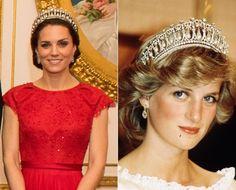 Kate Middleton e princesa Diana (Foto: Getty Images e Reprodução)