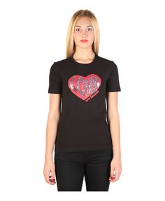 T-shirt, short sleeves roundneck - 92% cotton, 8% elastane - wash at 30° - italian size - T-shirt women Black