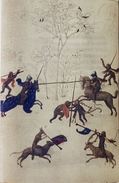 c. 1470 - 1490: Hunting with Unicorns. Source: Bodleian Library