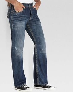 Silver Jeans Medium Wash Relaxed Fit Jeans