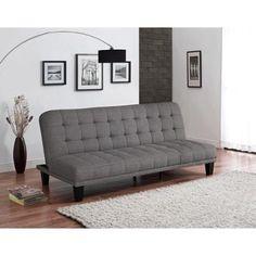 Metropolitan Futon Lounger, Grey Linen