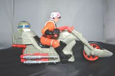 Vintage Star Wars Luke Skywalker Imperial Rev and Go Chopper Customs Hasbro
