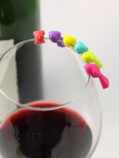 Bird - Wine Glass Markers - possible with polymer clay?