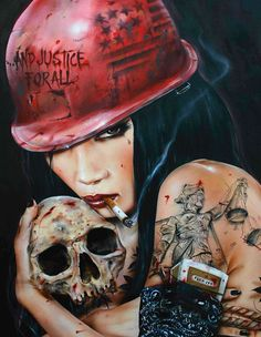 "This ""And Justice for All"" painting by Brian M. Viveros (20 x 26 Mixed Media on Maple) is the hotness"