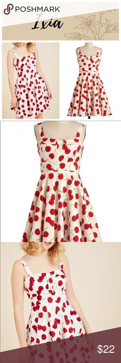 Pull up a Cherry Dress by Ixia Pinup style Ixia dress sold by ModCloth – excellent used condition with some pit discoloration – this can be seen in the Sixth and seventh uploaded a photo. Still a lot of life in this dress. Measurements to follow! Modcloth Dresses