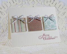 Handmade Holiday - Christmas Greeting Card. $3.50, via Etsy.
