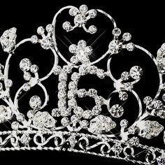 Silver Clear Sweet 16 Tiara 466