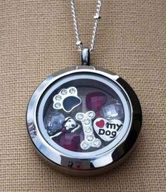 dog locket -  origami owl. FREE CHARM WITH A $25 OR MORE PURCHASE... Contact me to place your order YourCharmingLocket@gmail.com or message me on Facebook https://www.facebook.com/YourCharmingLocket