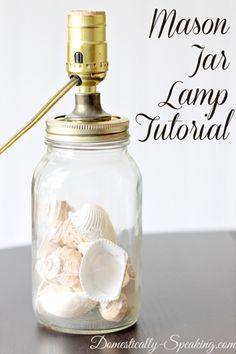 DIY Mason Jar Lamp Tutorial