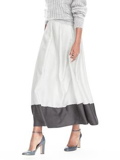 BR Heritage ombre pleat skirt