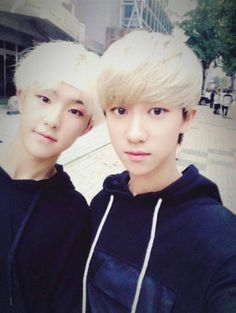 Hoshi and The8. I really like their blonde hair!
