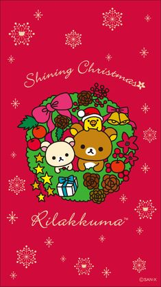 Kawaii Christmas greetings from Hello Kitty, Rilakkuma, Sumikko Gurashi, Mofutans, Little Twin Stars and Mamegoma seals. Wishing you a Very Merry Christmas and a Happy New Year! Sanrio Wallpaper, Rilakkuma Wallpaper, Wallpaper Iphone Disney, Cute Wallpaper For Phone, Kawaii Wallpaper, Cute Wallpapers Quotes, Cute Wallpaper Backgrounds, Desktop Wallpapers, Christmas Phone Wallpaper