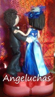 Preciosas muñecas fofuchas: Las Angeluchas, parejas de novios de boda: Los muñecos de la tarta de bodas. - Selección Japonesca