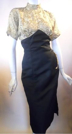 1950s Lilli Ann gold and black dress, Dorothea's Closet Vintage archives