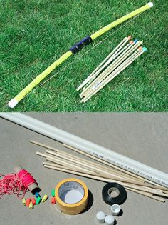 Kid Friendly PVC Bow and Arrows~Image © Tiffany of Craft Interrupted