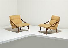 Gio Ponti, Pair of lounge chairs