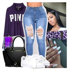 """""""18."""" by theykraveekayy ❤ liked on Polyvore featuring Victoria's Secret and Puma"""