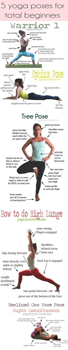 Pin now, practice later! 5 yoga poses for total beginners. Come chat on the forum! http://www.forum.yogabycandace.com