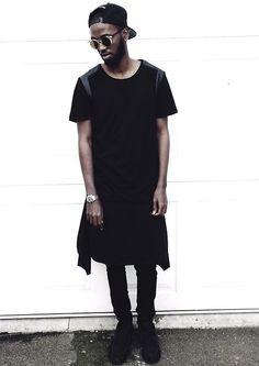 H&M Black/Leather Top, Black Nike Air Max, Topman Black Skinny Jeans