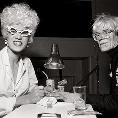 Bernard-Zette as Doris Farnsworth and Andy Warhol. -Wmag