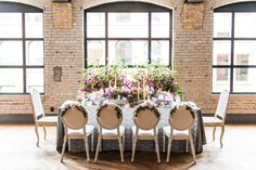 Contemporary Vintage Wedding   vintage-inspired   wedding wild flowers   head tablescape