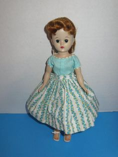 "Vintage 1950's Vogue 10"" Jill Redhead Ponytail Doll w/ Dress #3332 #Vogue #Dolls"
