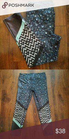 NWOT Limited Print Active Leggings Evolution and Creation Activewear Leggings. Length is similar to Lululemon Athletica 7/8 length.  Limited print chevron and feather. Designed in California. Never worn but took tags off already.   Smoke free home. Evolution and Creation Active Pants Leggings