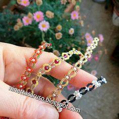 Tatting Jewelry, Tatting Lace, Diy Jewelry, Metallic Gold Color, Metallic Thread, Needle Tatting Patterns, Lace Necklace, Macrame Tutorial, Daisy Chain