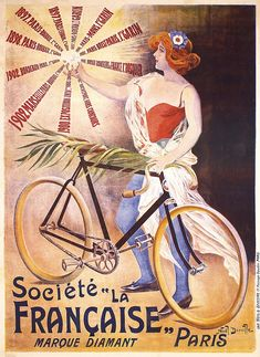 Pal Francaise Marianne Bicycle Cycles Bike Vintage Advert Extra Large Art Poster