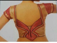 Stylish back designed blouse Patch Work Blouse Designs, Simple Blouse Designs, Stylish Blouse Design, Saree Blouse Neck Designs, Bridal Blouse Designs, Traditional Blouse Designs, Designer Blouse Patterns, Couture, Sarees