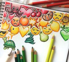 Wip of my second emoji drawing # Emoji Drawings, Pencil Art Drawings, Art Drawings Sketches, Disney Drawings, Cool Drawings, Drawing Sites, Drawing Drawing, Color Pencil Art, Art Sketchbook