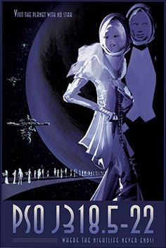Night Life - JPL Travel Poster