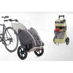 Panier pour transporter vos courses à vélo Clever Inventions, Backpacking, Camping, Bicycle Basket, Touring Bike, Van Life, Baby Strollers, Bike Trailers, Concept