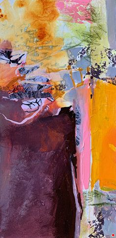 """Contemporary Landscape Artists International: Contemporary Landscape, Painting, Abstract Art """"DESERT SPIRIT"""" by Intuitive Artist Joan Fullerton Landscape Artwork, Abstract Landscape Painting, Contemporary Landscape, Abstract Art, Abstract Paintings, Watercolour Painting, Art Station, Oeuvre D'art, Les Oeuvres"""