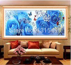 Patterns Logical Picture Color Explosion Model 30*30diy Diamond Painting 5d Cross Stitch Purple Luminous Flower Bedroom Painting Cross-stitch