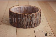 Ciotola di legno di corteccia Elica in legno Foto di dutchstyle