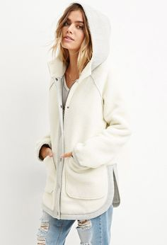 Doesn't come in XS Faux Shearling Hooded Jacket