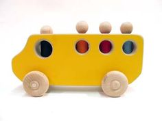 Wooden toy School Bus