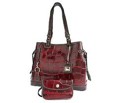 Croco Tassel Bordeaux