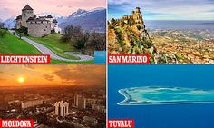 Here, MailOnline presents the 15 nations that account for the lowest annual tourist numbers, with wanderlust-worthy destinations in Europe, Africa, Asia and beyond.