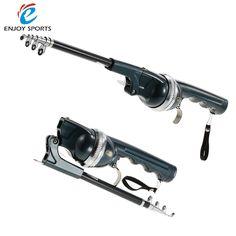 133cm Folding Fishing Rod Telescopic Mini Fishing Pole Combo Fiberglass Reel 3:6:1 Fishing Spinning Tackle