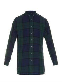 Ami Check-print cotton shirt